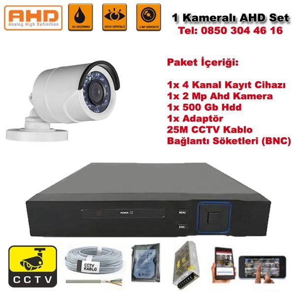 1 Kameralı Ahd Set - 2 Mp Kamera