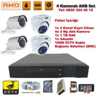 4 Kameralı Ahd Set - 2 Mp Kamera