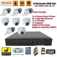 8 Kameralı Ahd Set - 2 Mp Kamera